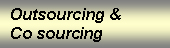 Outsourcing & Co sourcing